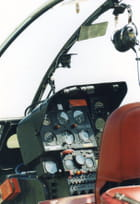Poste de pilotage de l'hélicoptère