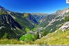 Pralognan depuis le Pas de l'Âne (Vanoise)