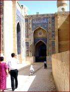 Promenade en famille à Samarkand