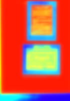 Rectangles sur Fond Rouge