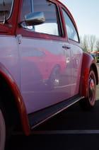 Reflet d'une Mustang sur une Cox