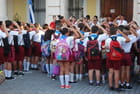 rentrée des classes à La Havane