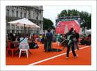 Roland-Garros visible sur le parvis de l'Hôtel de Ville de Paris