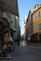 ruelles commerçantes de Zadar