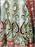 Sari indien brodé (détail)