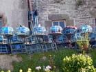 Séchage des casiers de homards