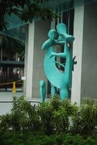 statue dans le rue à Singapour