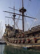 Sur le port de Genova