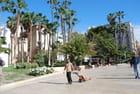 sur une place de Malaga