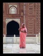 Taj Mahal sous la pluie