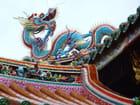 Temple, détail du toit - dragon