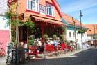 un café dans la vieille ville de Stavanger