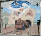 Un train dans la ville