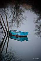 Une barque sur la Bidouze