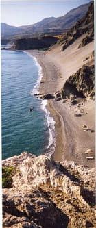 Une plage crétoise déserte