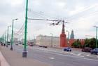 une rue de Moscou