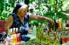 Vente de produits locaux dans le parc de Krka.