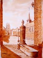 vieille pompe du village d'autrefois