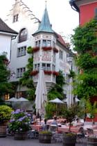 Village fleuri du bord du lac de Constance