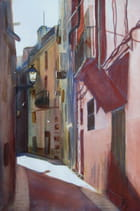 Ville d'Espagne (aquarelle)