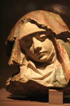 Visage de vierge du Moyen-age