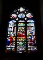 Vitrail de la chapelle N° 6 - La Dormition de la Vierge