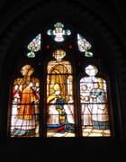 Vitrail du 19° siècle - Prise de voile de Ste Bernadette