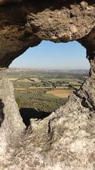 Vue depuis chateau des Baux de Provence