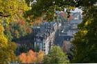 vue partielle de Lausanne depuis l'Hermitage