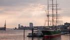 Vue sur le port d'Hambourg