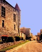 Xaintrailles, château sur rue