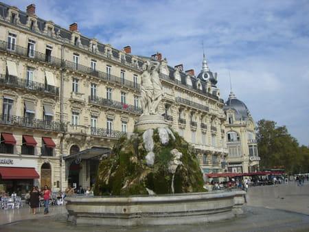Les places de Montpellier