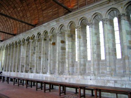 Le réfectoire de l'abbaye du Mont-Saint-Michel