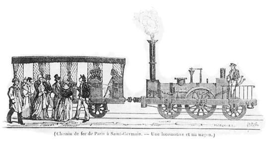 première ligne ferroviaire voyageurs paris le pecq