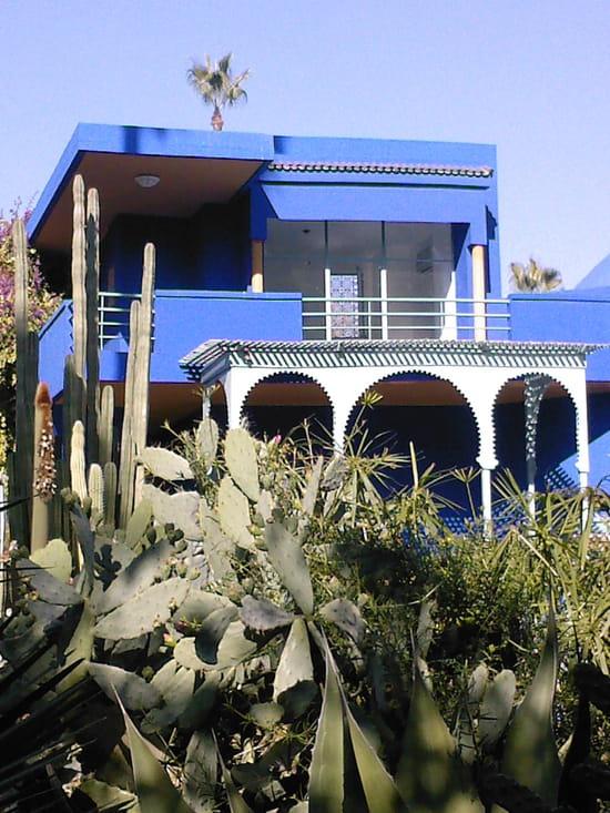 Jardin majorelle - Maison bleue dans le jardin Marjorelle à Marrakech