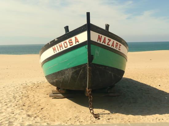 Nazaré au Portugal - Barque.