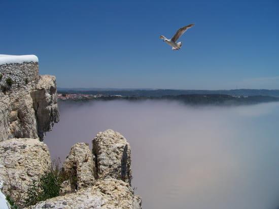 Sous le brouillard - Les hauteurs de Nazaré