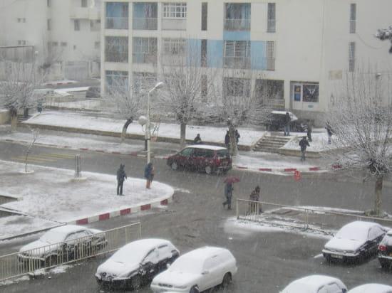 Boumerdes centre sous la neige