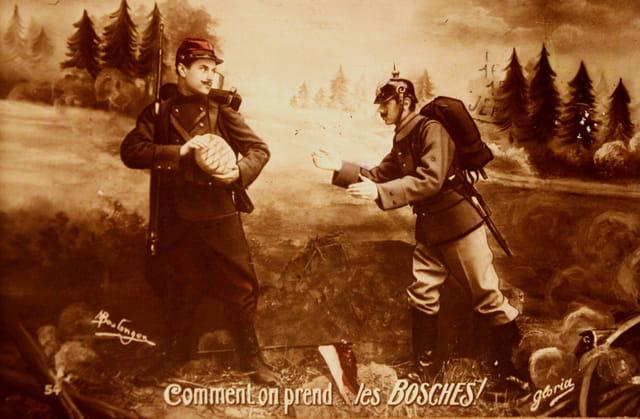 1914-18 : patriotisme, haine du camp adversaire...