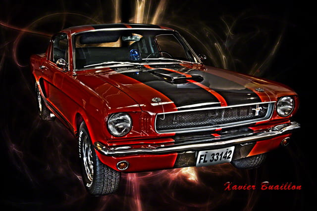 1965 Ford Mustang Fastback GT 350 Shelby Clone par Xavier Buaillon