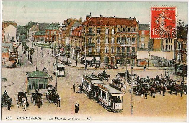 59 DUNKERQUE - La Place de la Gare vers 1910