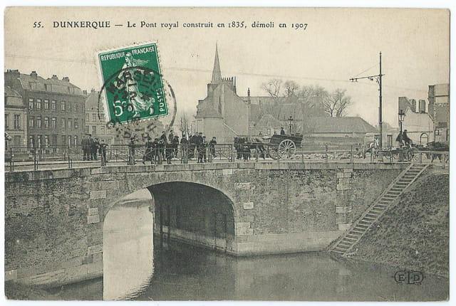 59 DUNKERQUE - Le Pont royal construit en 1835 démoli en 1907