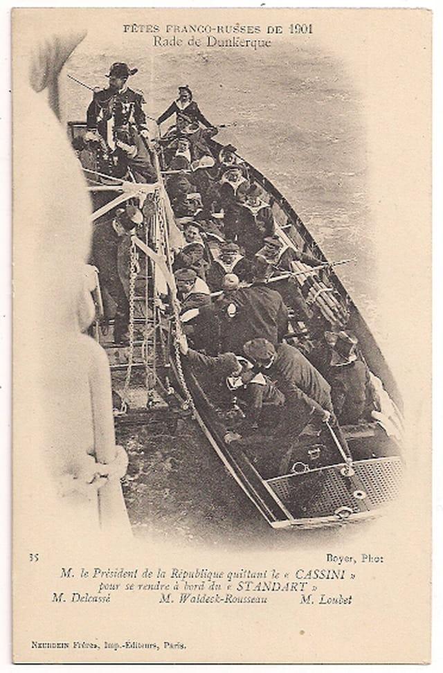 59 DUNKERQUE - Rade - Fêtes Franco-Russes de 1901
