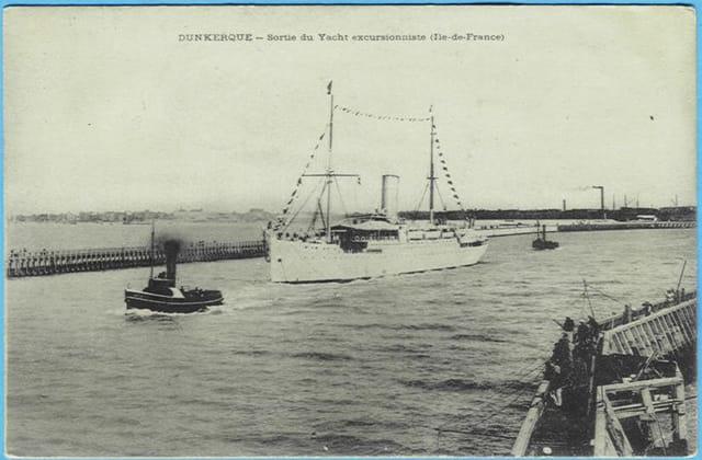 59 DUNKERQUE - Sortie du Yacht excursionniste (Ile-de-France)