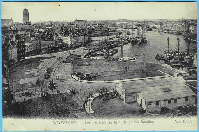 59 DUNKERQUE - Vue générale de la Ville et des Bassins