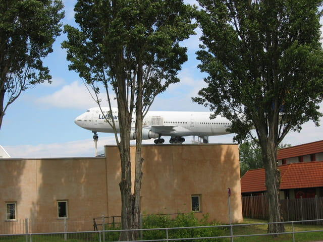 747 sur le toit