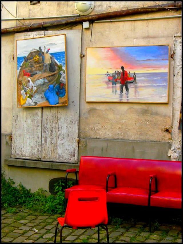 A atelier exigu expo sur rue