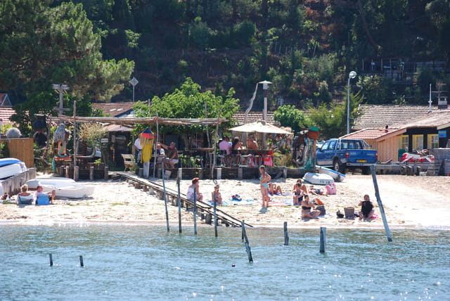 à la plage au bord du Bassin d'Arcachon