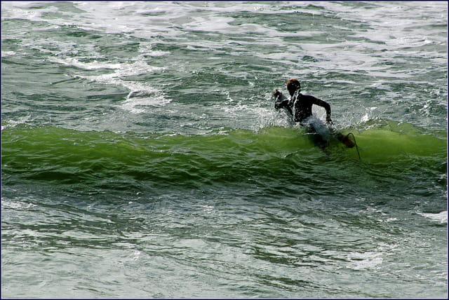 Au devant de la vague