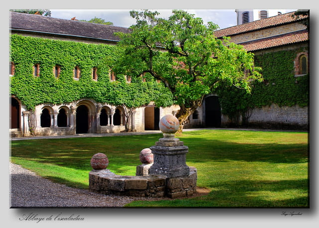 Abbaye de L'Escaladieu, la fontaine.